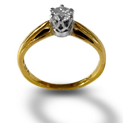 18ct gold solitaire diamond ring