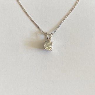 diamond pendant and necklace