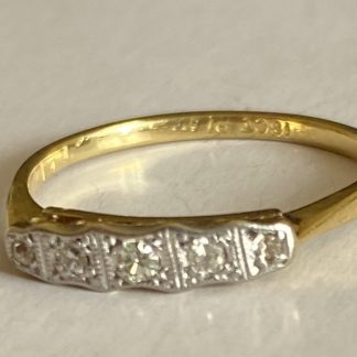 platinum and 18ct gold diamond ring