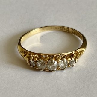 Edwardian 5 stone diamond ring