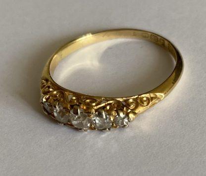 Edwardian 5 stone diamond ring