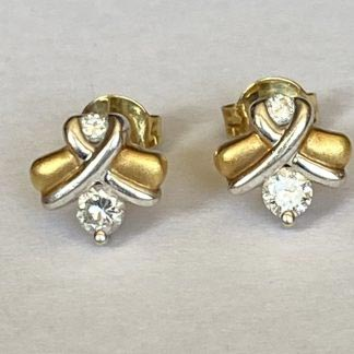 18ct gold diamond studs