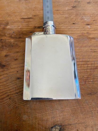 Silver Art Deco flask.