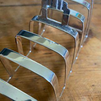 Art Deco silver toast rack