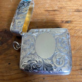 Victorian collectable silver vesta case