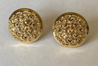 9ct gold 1970s earrings