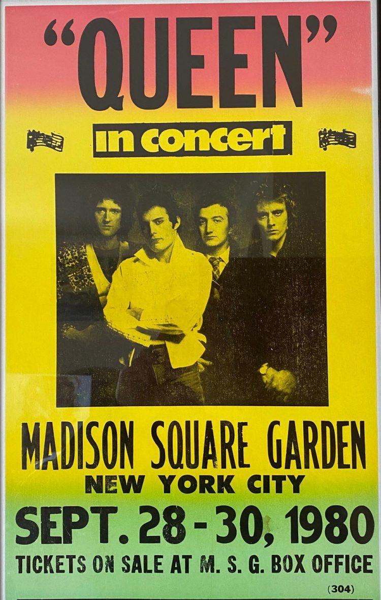 Original 1980 Queen Tour Poster - Rutland Antiques and Art ...