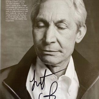 Charlie Watts autograph