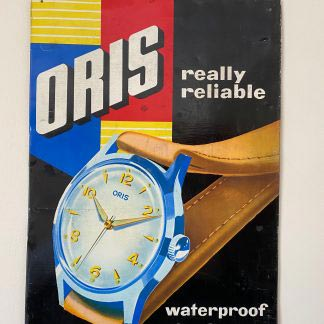 Vintage Oris watch advertising sign