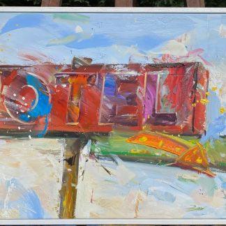 Paul Wright original oil painting
