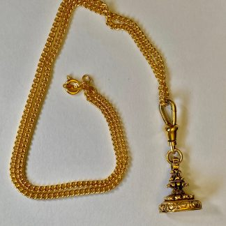 Vintage Gold Plated Fob Pendant