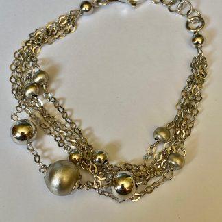 silver bauble bracelet