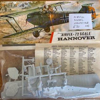 Airfix model Hannover biplane