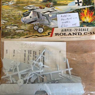 Airfix model Roland biplane