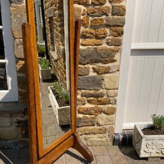 stunning golden oak freestanding cheval mirror