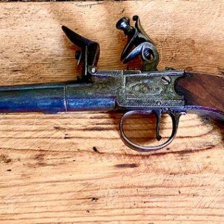 Box lock flintlock pistol