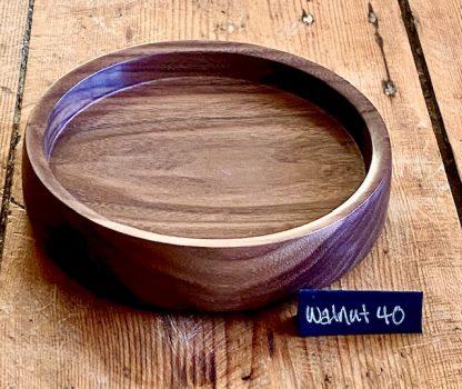 Walnut shallow bowl